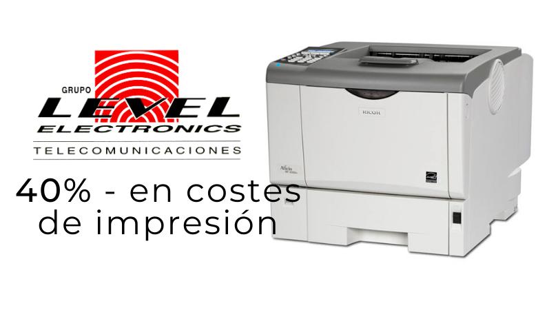 40% - en costes de impresión