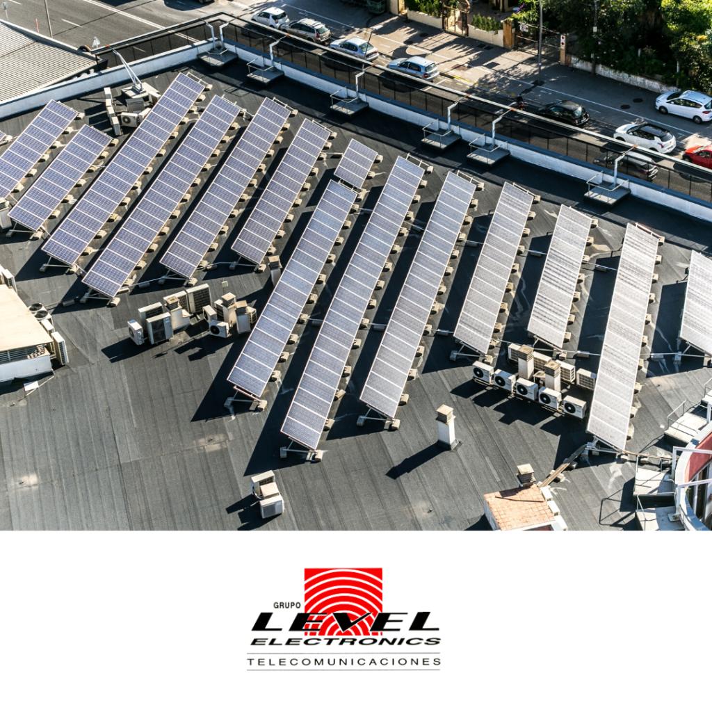 Placas solares en la industria efectuada por LEVEL Electrónics